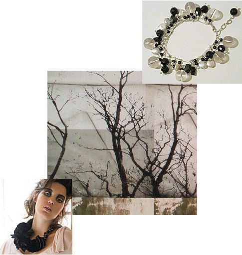 Baharat Silk Jewelry, Moonlight Jewelry, Julia Blaukopf Photography Collage