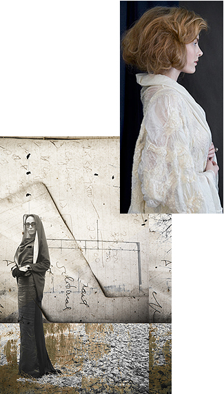 Elena Garcia Felted Wool and Silk Jacket, Julia Blaukopf Photography Collage