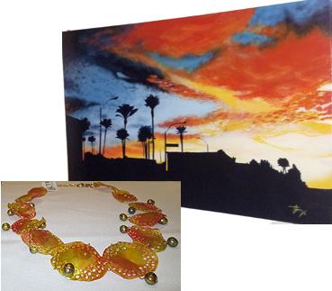 Omar Gomez Las Vegas Landscape, Alterequo Necklace