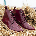 Bourgeois Boheme AW16 Petra Vegan Brogue Boot Burgundy
